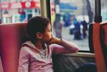 girl on the tram