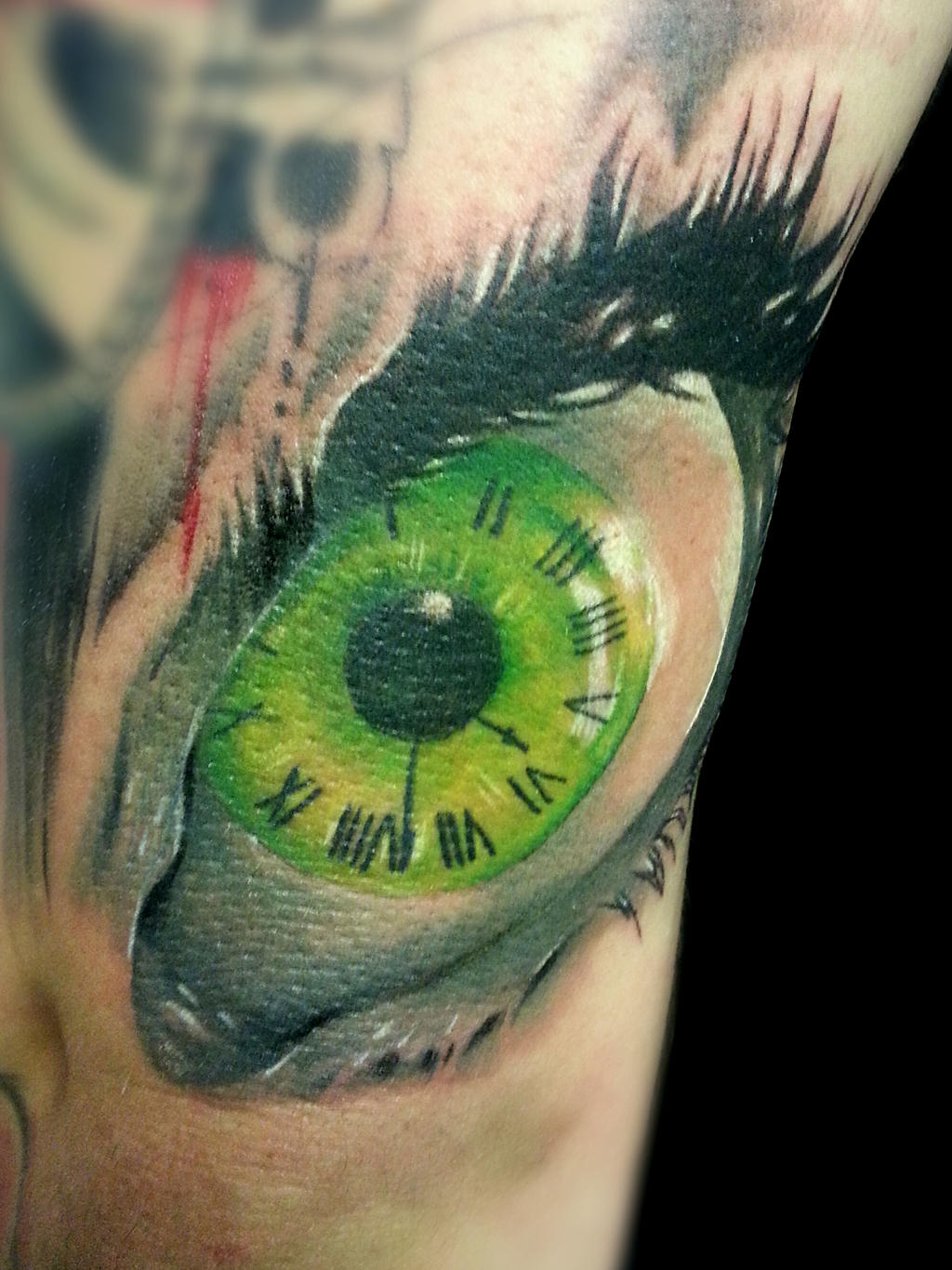 Eye clock by jackburginart on deviantart for Eye with clock tattoo