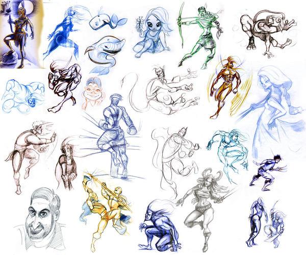 daily sketchess by sdrmutant