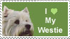 Westie Love Stamp by Alkahla