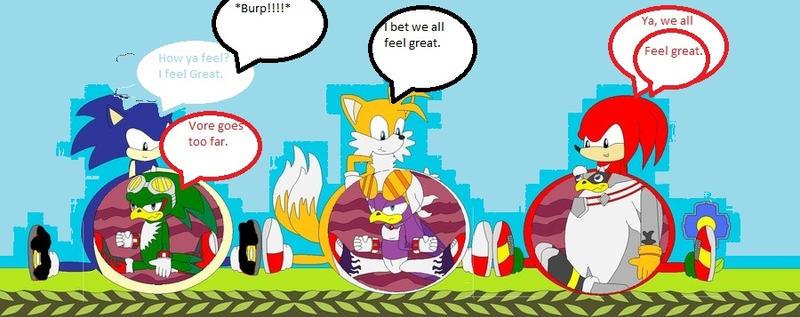 Sonic Burp Vore: Team BloodSonic Vs Team Babylon Vore Contest... By