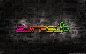 Surfzup Neon Wall Experiment 2