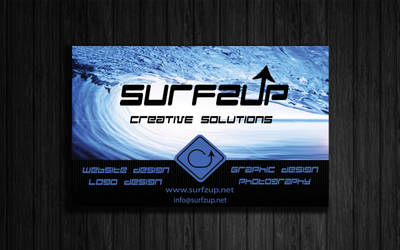 Surfzup Business Card Front 2 by SURFZUP
