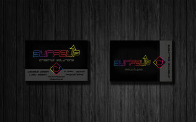 Surfzup Neon Business Cards by SURFZUP