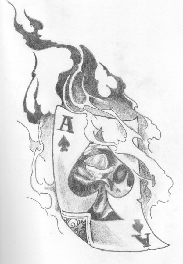Ace of spades by dualspades