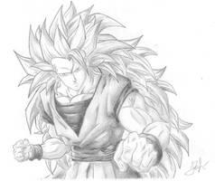 SSJ3 Goku by Dualspades