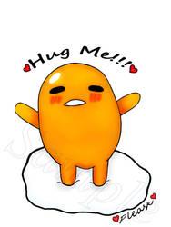 gudetama hug me please ^^ by ChmizureArt