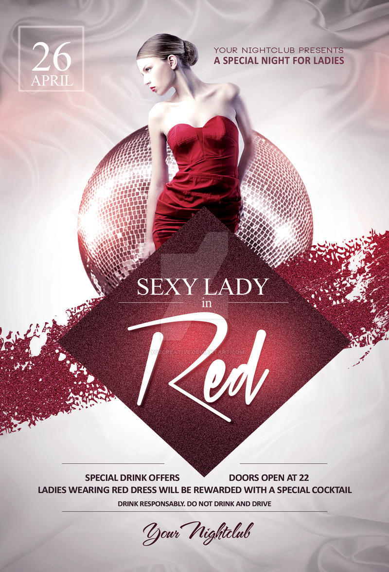 Sexy Lady in Red Flyer Template by YczCreative on DeviantArt – Red Flyer Template