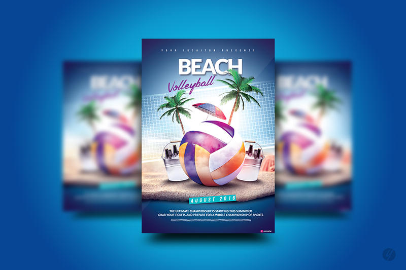 Beach Volleyball Flyer by YczCreative