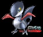 Fakemon Skarmory Pre-evolution: Skarling