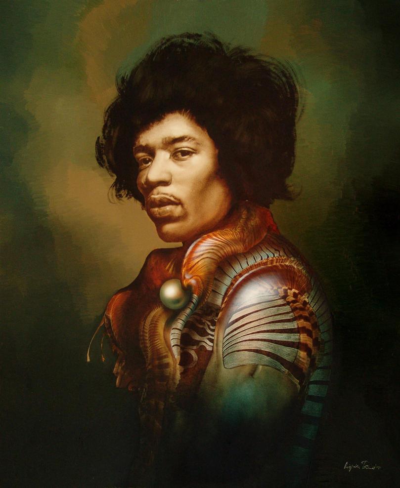 Jimi Hendrix by tamasvegvari