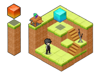 Photoshop Practice #2: Isometric Greed One by buombuomchua