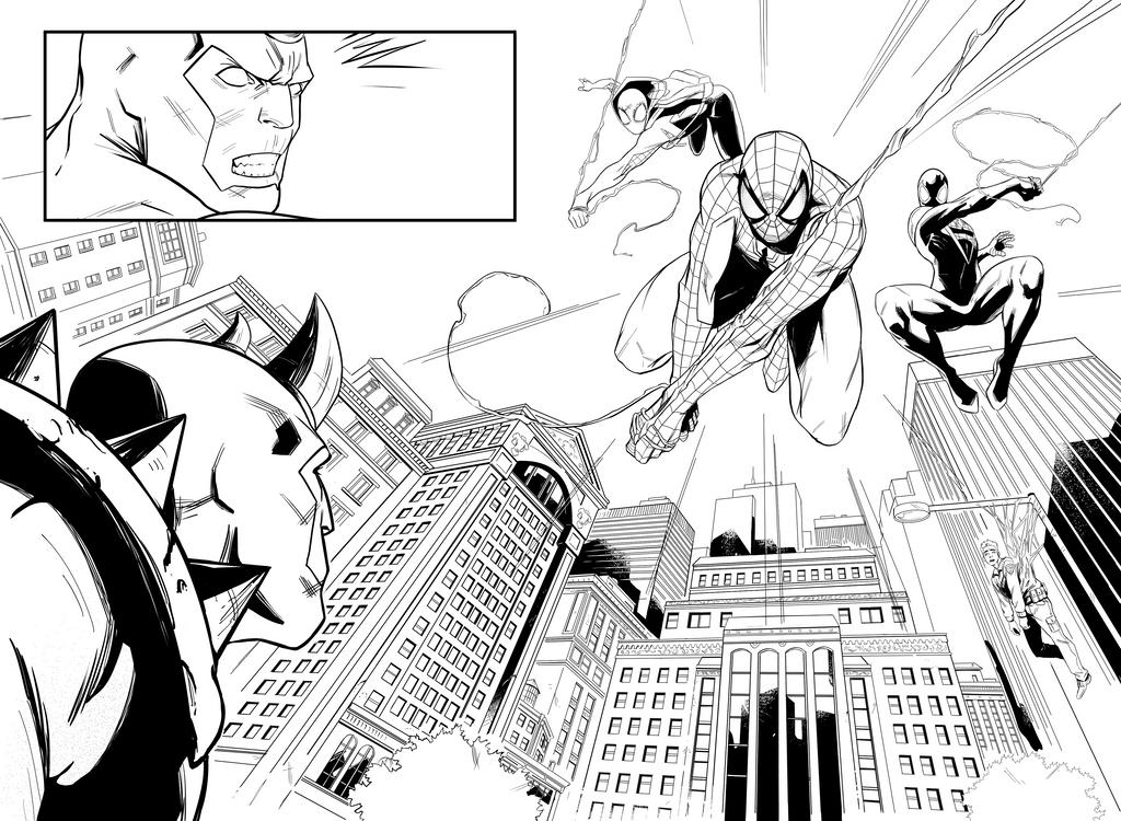 Spidermen Pg 5-6 by AngelTovar