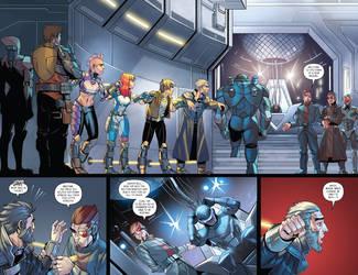 Issue 5 splash page by AngelTovar
