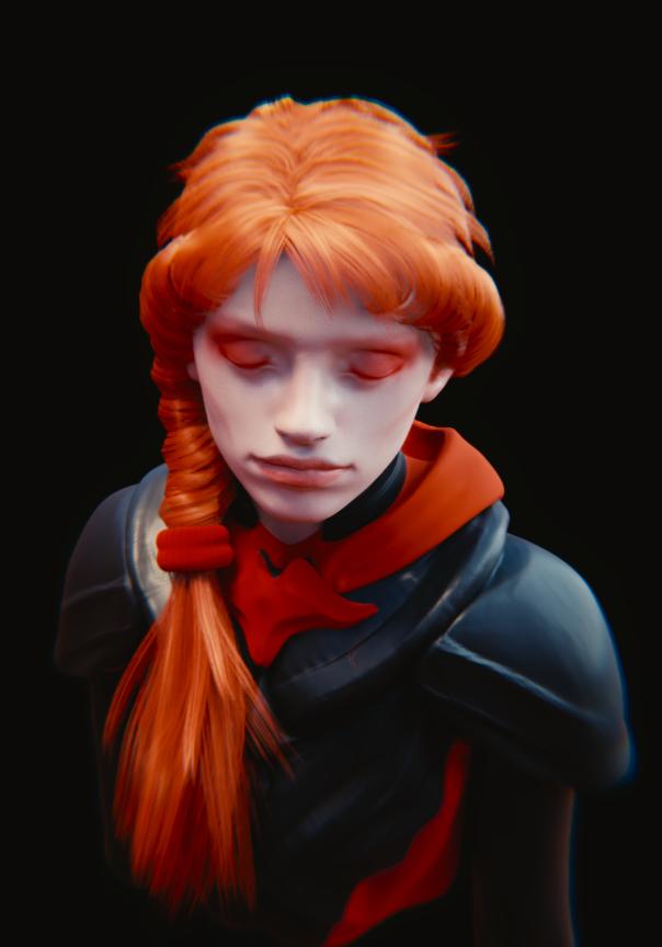 Orange hair by JoseConseco