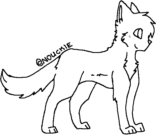 Warrior Cats Kit To Leader Bloodclan: .:Cat Lineart:. By ShayminLover101 On DeviantArt