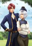 Kaina and Lennarth commission halfbody