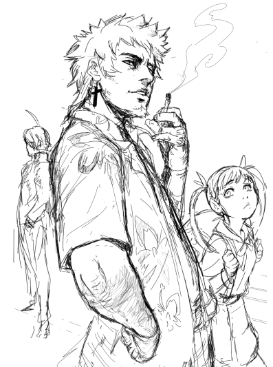 Daily sketch : Bakemonogatari by zionenciel