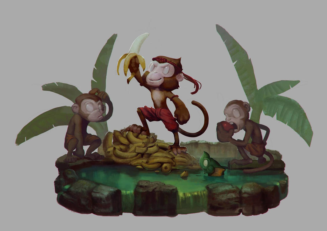 Character Design : Monkey Private by zionenciel