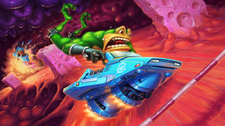 Battletoads: Turbo Tunnel by sergeo-art
