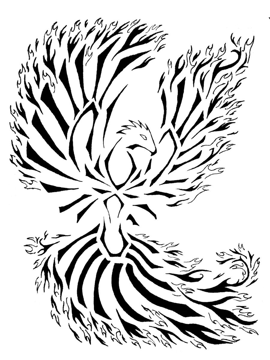 phoenix tattoo tribal