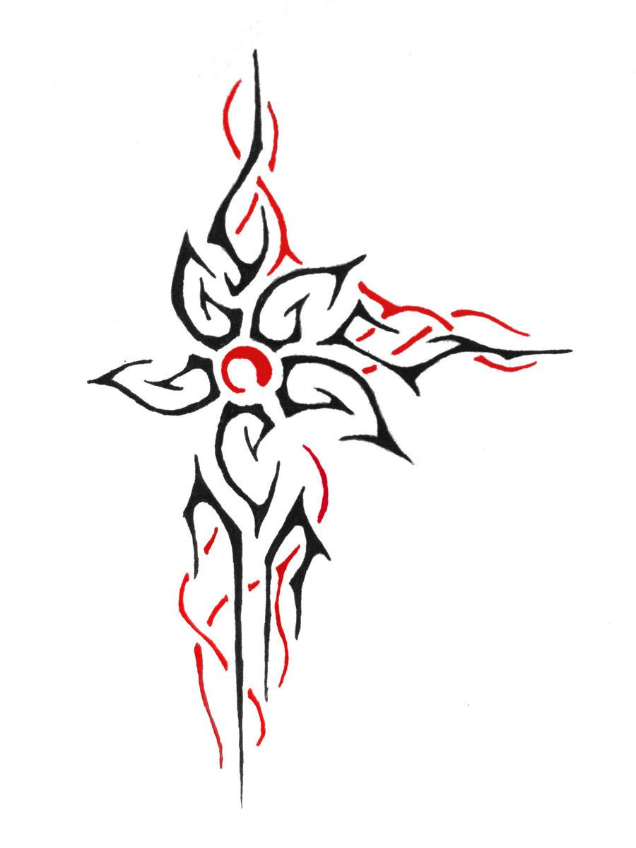 tribal flowers tattoosSimple Tribal Flower Tattoos