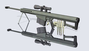 Barrett m107 3D Model 3