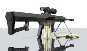 Barrett m107 3D Model 4
