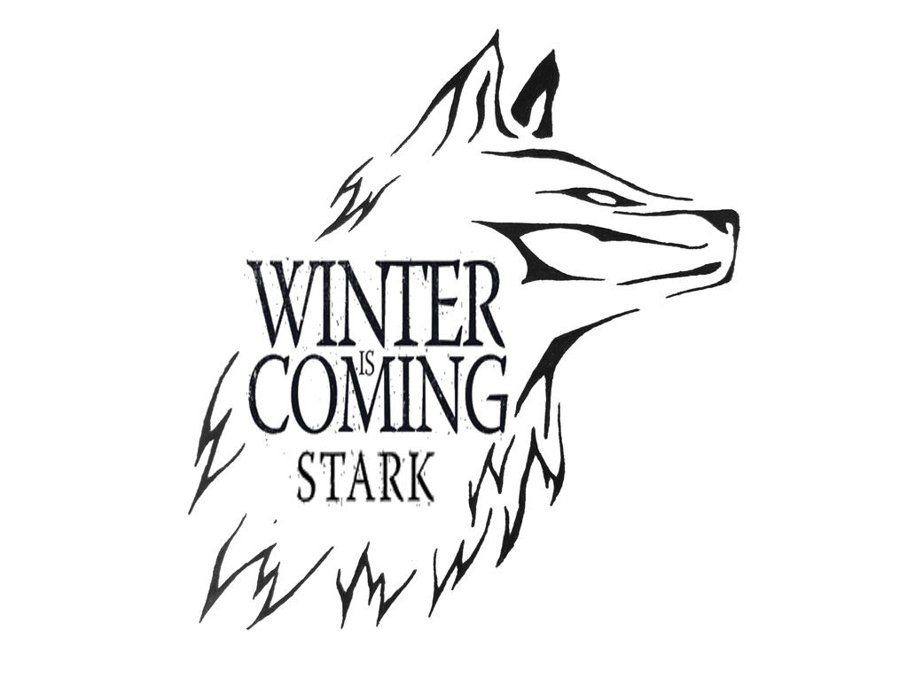 Winter is Coming Tribal Wolf by aeroblade88