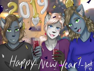Happy New Year 2019! by AzulArtist1027