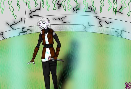 Jana at the Dantooine Enclave