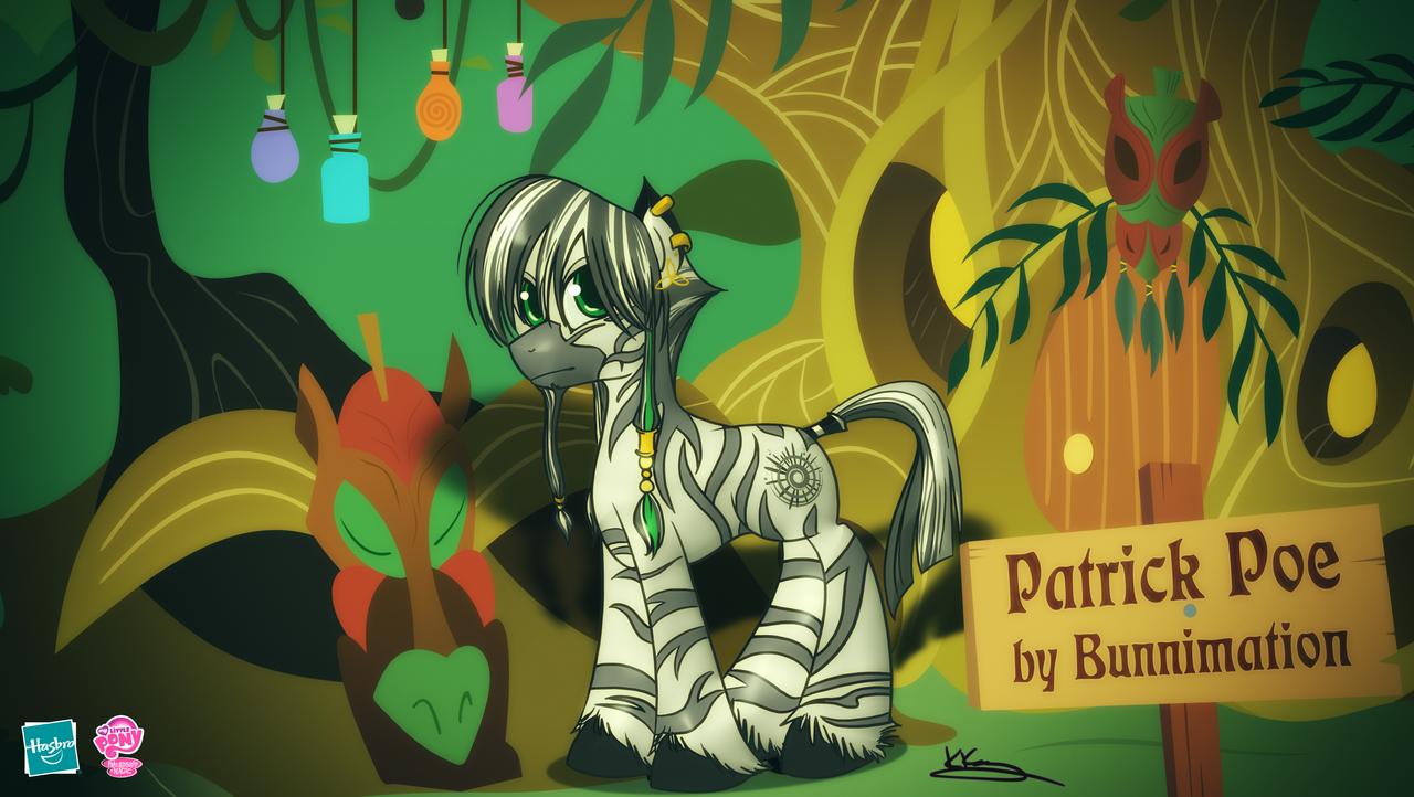 Zebra Patrick Poe by zebrapoe