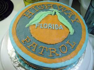 Highway Patrol Graduation Cake