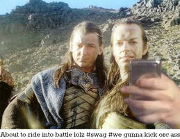 Elrond chilling before battle.