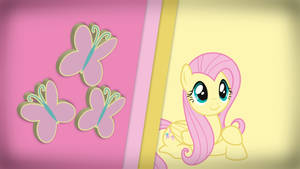 Striped Wallpaper - Fluttershy