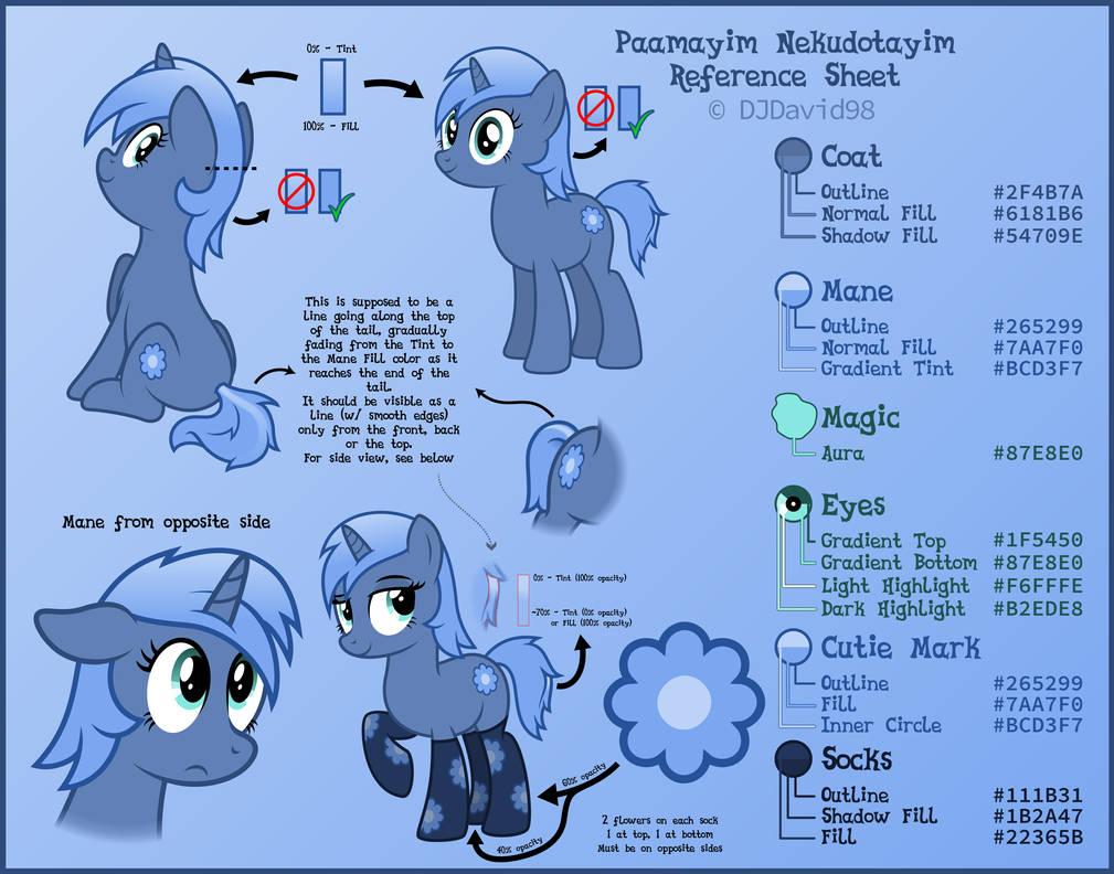 Paamayim Nekudotayim / PHP Pony - reference sheet