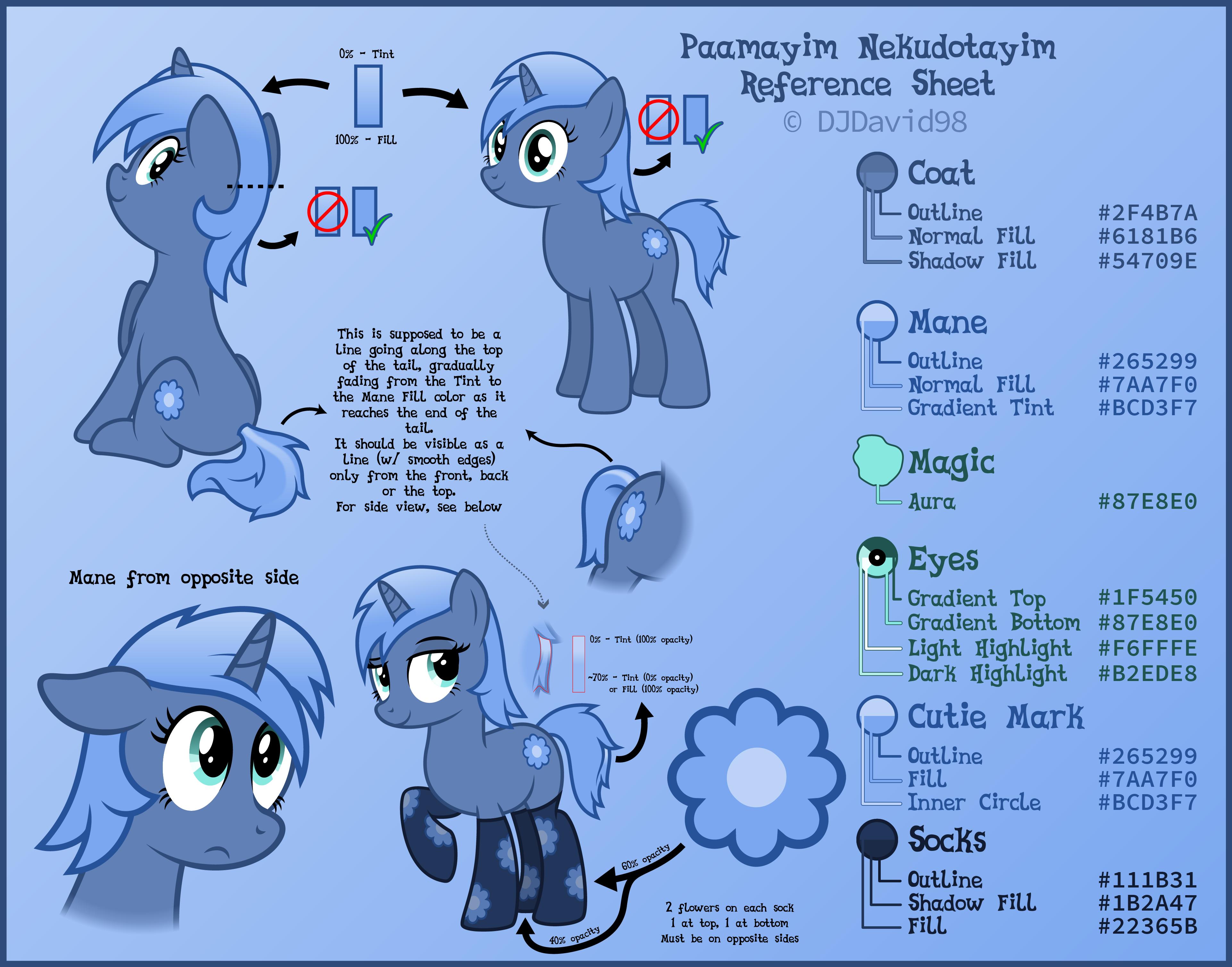 Paamayim Nekudotayim / PHP Pony - reference sheet by DJDavid98