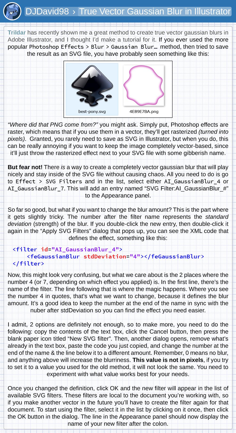 Tutorial: True Vector Gaussian Blur in Illustrator by DJDavid98 on