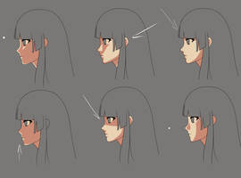Anime face shading practice2