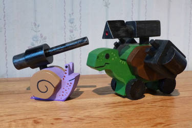 Morter snail and Battle turtle. by Tyr73