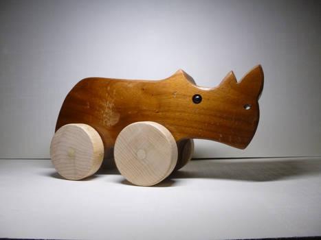 Rhino pull toy 1.