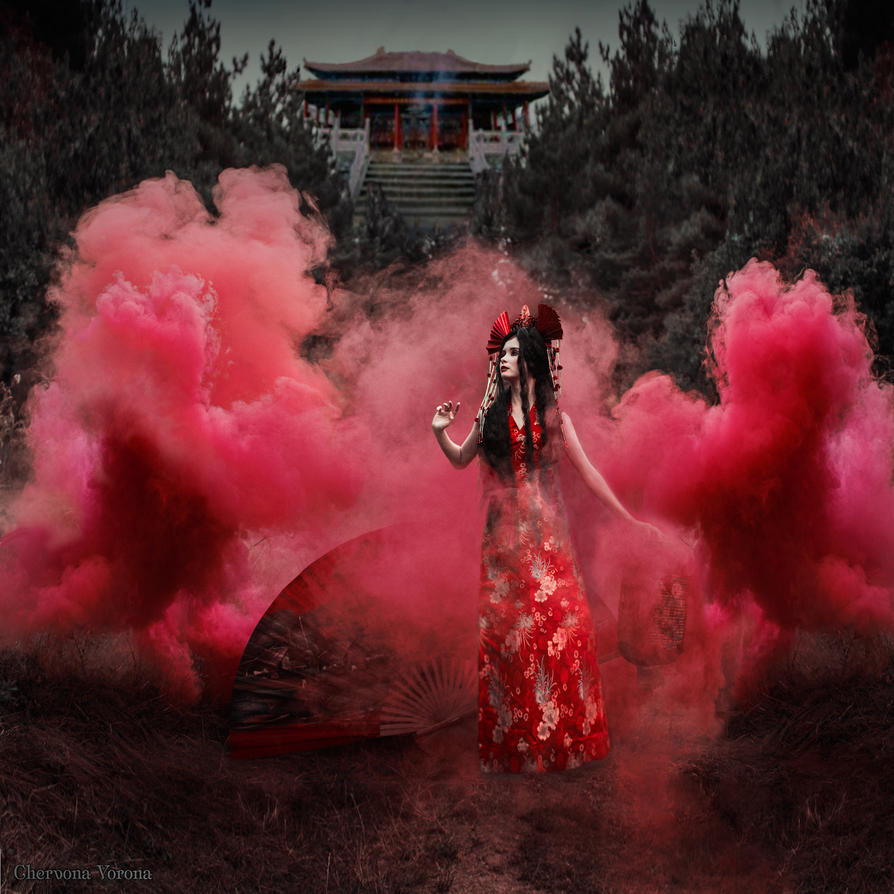 Scarlet lotus by chervona