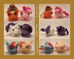 Crochet Cuties: My Little Piggies by Yarn-and-Ink