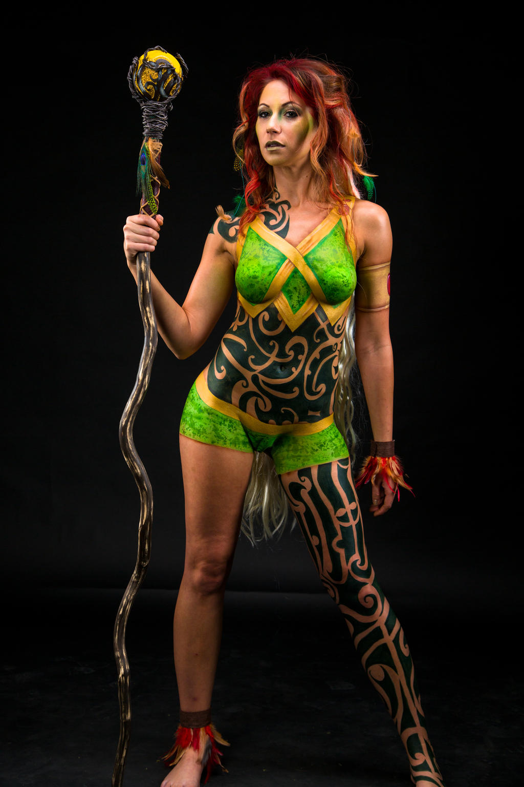 forest witch body paint by eatlizzardsdaily on deviantart