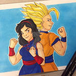 Gohan and Kat: Friendly Face-off by zoraarmorlink