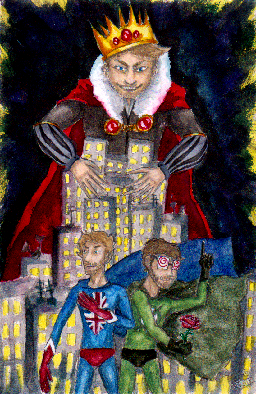 Xray And Vav Vs The Mad King by im-a-nobodyXray And Vav Drawing