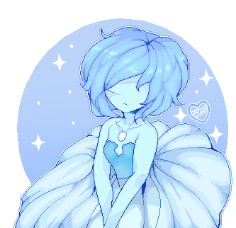 Pixel version of Blue Pearl I did a month ago maybe. I really love pixel art and I hope I can do more of it!! I think ...