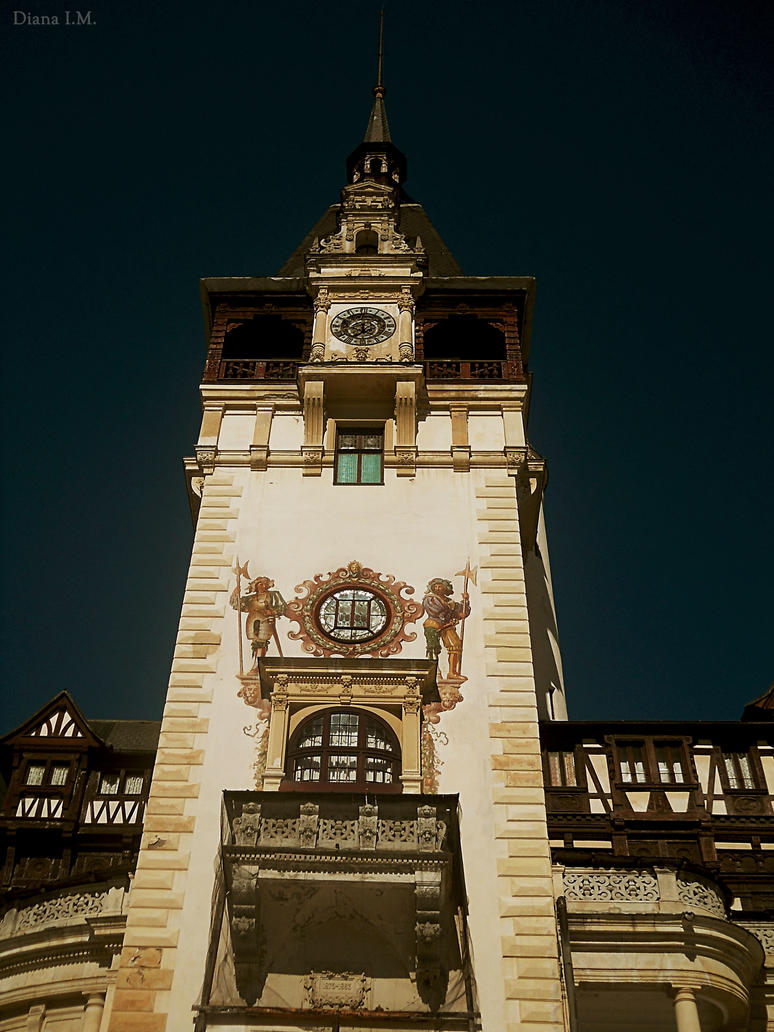 Peles Castle' clock by Magic-diamond