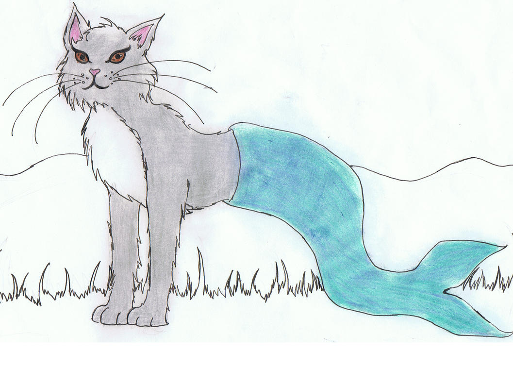 Misticat, the Mermaid Cat by theBloodRaven