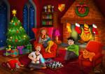 Christmas at Hogwarts by Adline-c